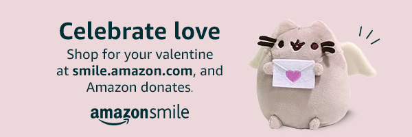 Amazon Smile Valentine's Banner